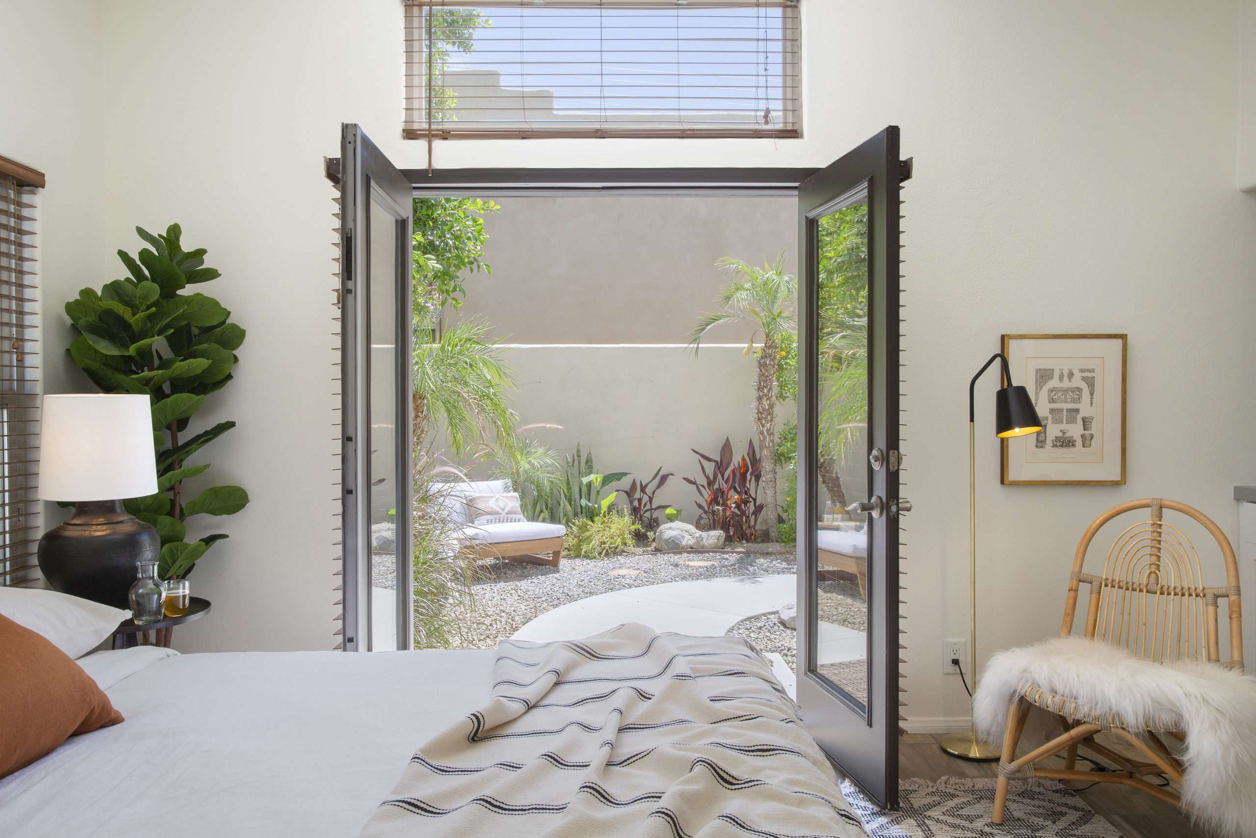 principal bedroom walk-out to private garden
